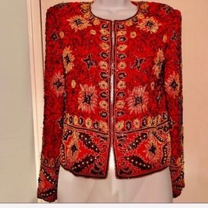 Beaded Jacket Perfect w Everything By PAPELL